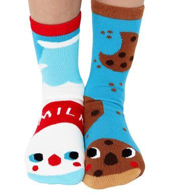 Adorable-mismatched-cookies-and-milk-socks the list of best Christmas gifts for kids in 2020.